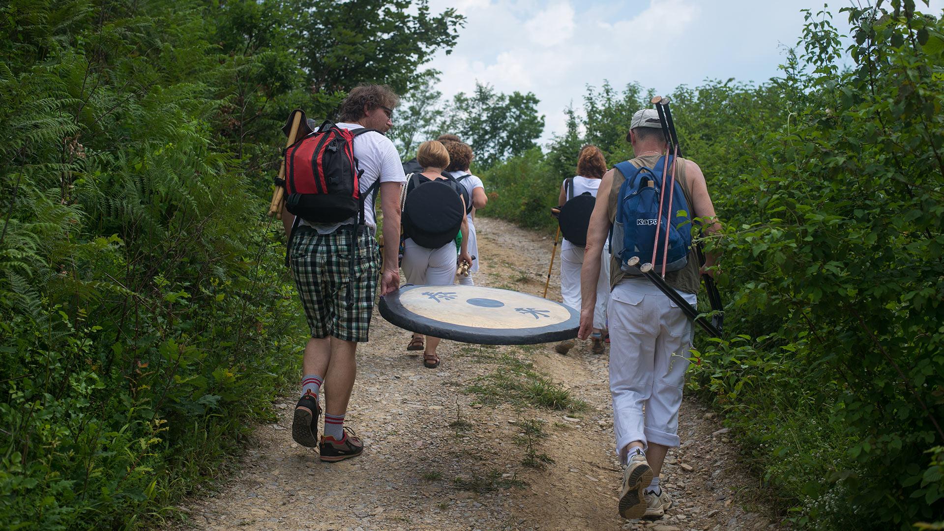 Pot na piramido meseca, kjer je potekala meditacija, Visoko 2016